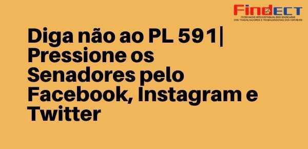 NÃO AO PL 591   PRESSIONE OS SENADORES PELO FACEBOOK, INSTAGRAM E TWITTER