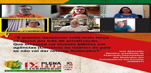 FINDECT PARTICIPA DE PLENÁRIA DA FEDERAÇÃO ÚNICA DOS PETROLEIROS SOBRE A LUTA CONTRA AS PRIVATIZAÇÕES