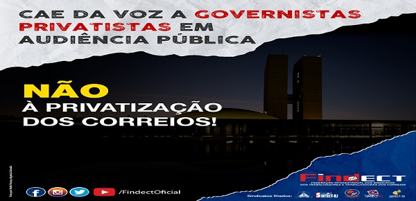 COMISSÃO DO SENADO DÁ VOZ A GOVERNISTAS PRIVATISTAS EM AUDIÊNCIA PÚBLICA