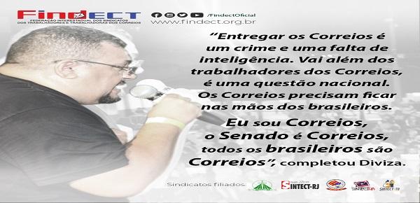 FINDECT DEFENDE O CORREIO  ESTATAL EM AUDIÊNCIA PÚBLICA NO SENADO
